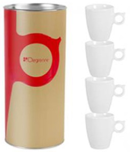 Coffret Tube 4 tasses expresso Guy Degrenne