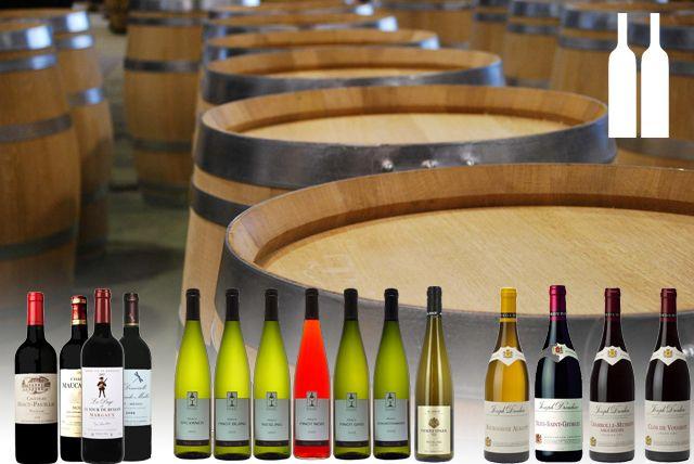 Sélection de vins (1 à 2 bouteilles)